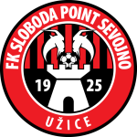 Эмблема (логотип): Футбольный клуб «Слобода» Ужице. Logo: Fudbalski klub Sloboda Užice